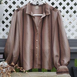 Vintage button down blouse